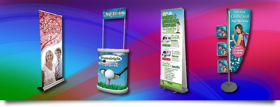 Exhibition Display Solutions : Exhibition banner stands pop up displays display print